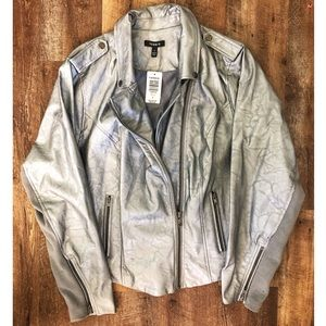 Torrid Faux Leather Motorcycle Jacket, size 3